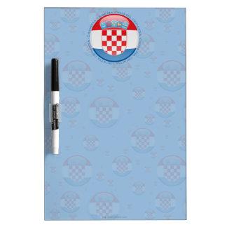 Bandera de la burbuja de Croacia Tableros Blancos