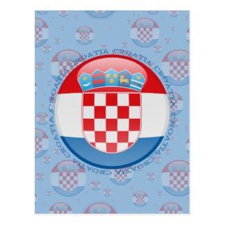 Bandera de la burbuja de Croacia Tarjetas Postales