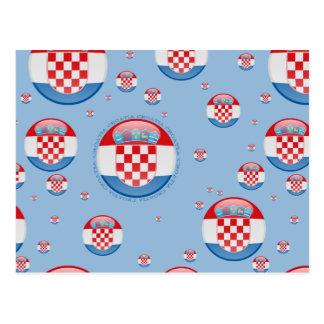 Bandera de la burbuja de Croacia Tarjeta Postal