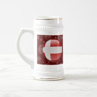 Bandera de la burbuja de Dinamarca Tazas