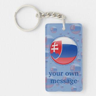 Bandera de la burbuja de Eslovaquia Llavero Rectangular Acrílico A Doble Cara