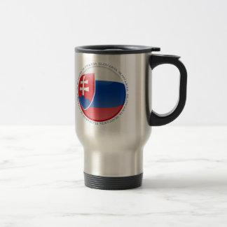 Bandera de la burbuja de Eslovaquia Taza De Viaje