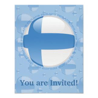 """Bandera de la burbuja de Finlandia Invitación 4.25"""" X 5.5"""""""