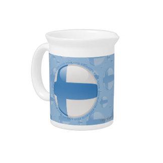 Bandera de la burbuja de Finlandia Jarras Para Bebida
