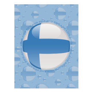 Bandera de la burbuja de Finlandia Postales