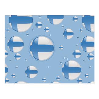 Bandera de la burbuja de Finlandia Tarjeta Postal