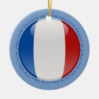 Bandera de la burbuja de Francia Ornamento Para Reyes Magos