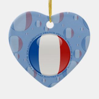 Bandera de la burbuja de Francia Ornamento Para Arbol De Navidad