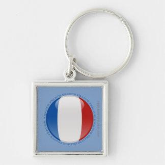 Bandera de la burbuja de Francia Llaveros Personalizados