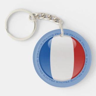 Bandera de la burbuja de Francia Llaveros
