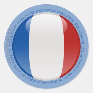 Bandera de la burbuja de Francia Pegatina Redonda