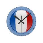 Bandera de la burbuja de Francia Reloj De Pared