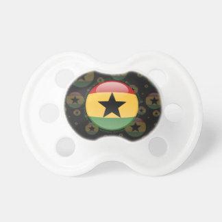 Bandera de la burbuja de Ghana Chupete De Bebé