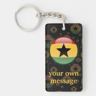 Bandera de la burbuja de Ghana Llavero Rectangular Acrílico A Doble Cara