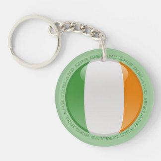 Bandera de la burbuja de Irlanda Llavero Redondo Acrílico A Doble Cara