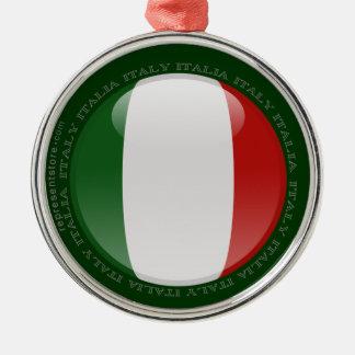 Bandera de la burbuja de Italia Adorno Redondo Plateado