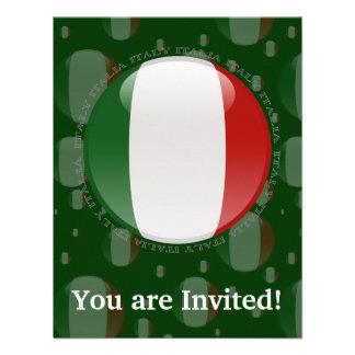 Bandera de la burbuja de Italia Comunicados Personalizados