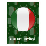 """Bandera de la burbuja de Italia Invitación 4.25"""" X 5.5"""""""
