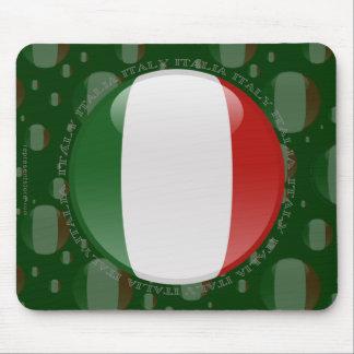 Bandera de la burbuja de Italia Mouse Pad