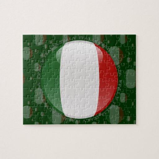 Bandera de la burbuja de Italia Puzzles