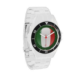 Bandera de la burbuja de Italia Reloj