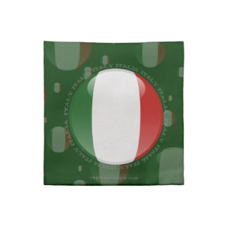 Bandera de la burbuja de Italia Servilletas De Papel