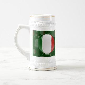 Bandera de la burbuja de Italia Tazas De Café