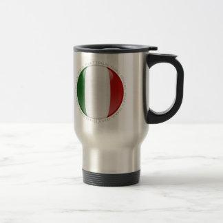 Bandera de la burbuja de Italia Taza De Viaje