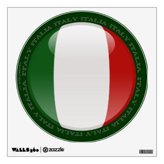Bandera de la burbuja de Italia Vinilo Adhesivo