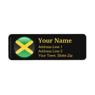 Bandera de la burbuja de Jamaica Etiqueta De Remite
