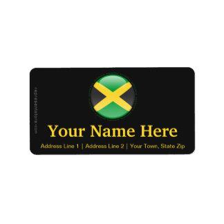 Bandera de la burbuja de Jamaica Etiquetas De Dirección