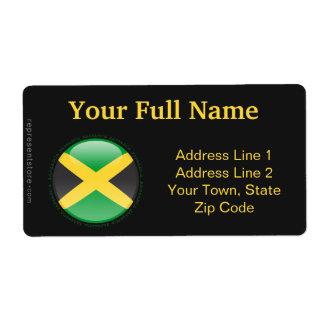Bandera de la burbuja de Jamaica Etiquetas De Envío
