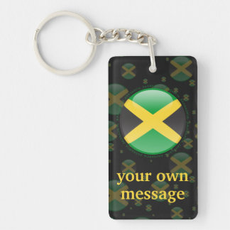 Bandera de la burbuja de Jamaica Llavero Rectangular Acrílico A Doble Cara