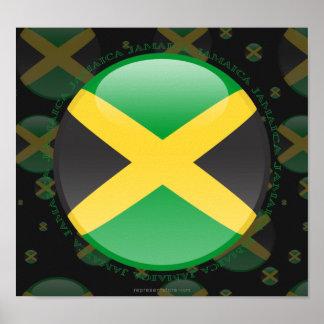 Bandera de la burbuja de Jamaica Póster