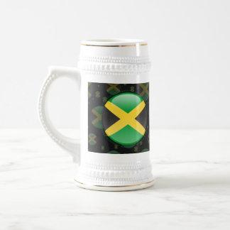 Bandera de la burbuja de Jamaica Jarra De Cerveza