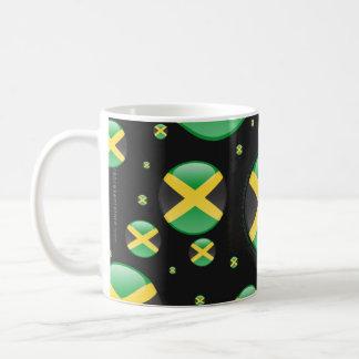 Bandera de la burbuja de Jamaica Taza Básica Blanca