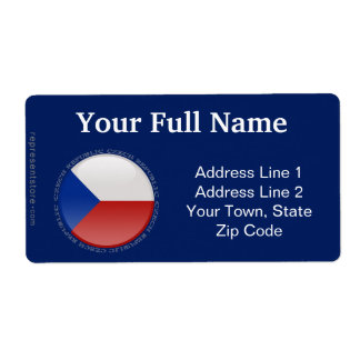 Bandera de la burbuja de la República Checa Etiqueta De Envío