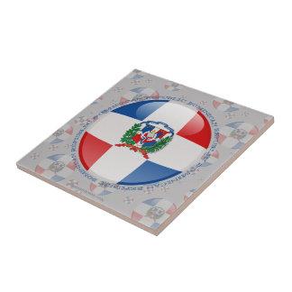 Bandera de la burbuja de la República Dominicana Azulejo Cuadrado Pequeño