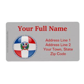 Bandera de la burbuja de la República Dominicana Etiquetas De Envío