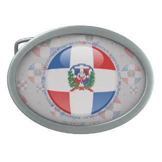Bandera de la burbuja de la República Dominicana Hebillas Cinturón