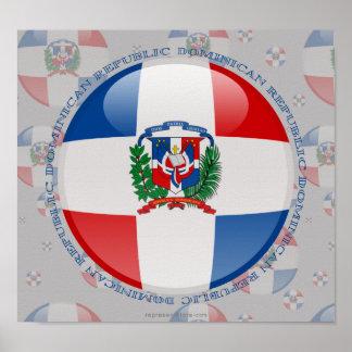 Bandera de la burbuja de la República Dominicana Poster