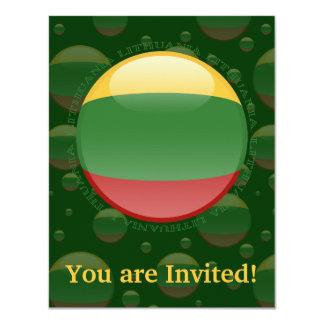 Bandera de la burbuja de Lituania Invitación 10,8 X 13,9 Cm