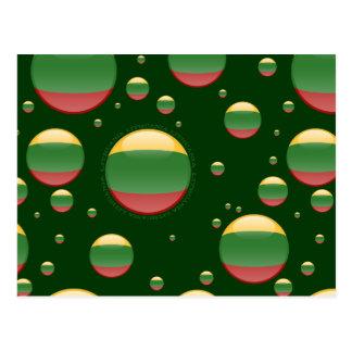 Bandera de la burbuja de Lituania Postales