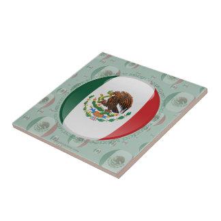 Bandera de la burbuja de México Azulejo Cuadrado Pequeño
