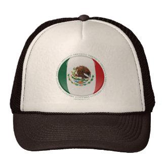 Bandera de la burbuja de México Gorros Bordados