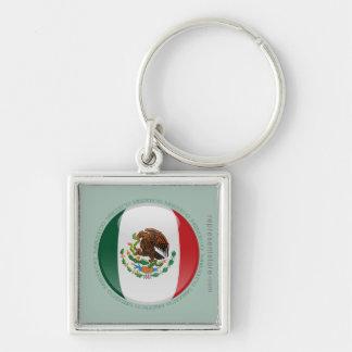Bandera de la burbuja de México Llavero
