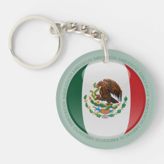 Bandera de la burbuja de México Llaveros