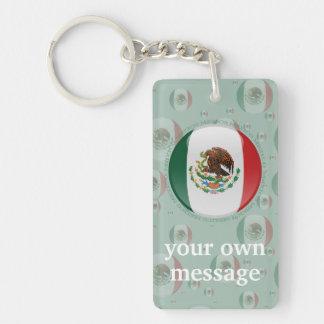 Bandera de la burbuja de México Llavero Rectangular Acrílico A Doble Cara