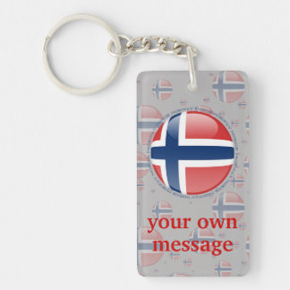 Bandera de la burbuja de Noruega Llavero Rectangular Acrílico A Doble Cara