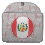 Bandera de la burbuja de Perú Fundas Para Macbook Pro